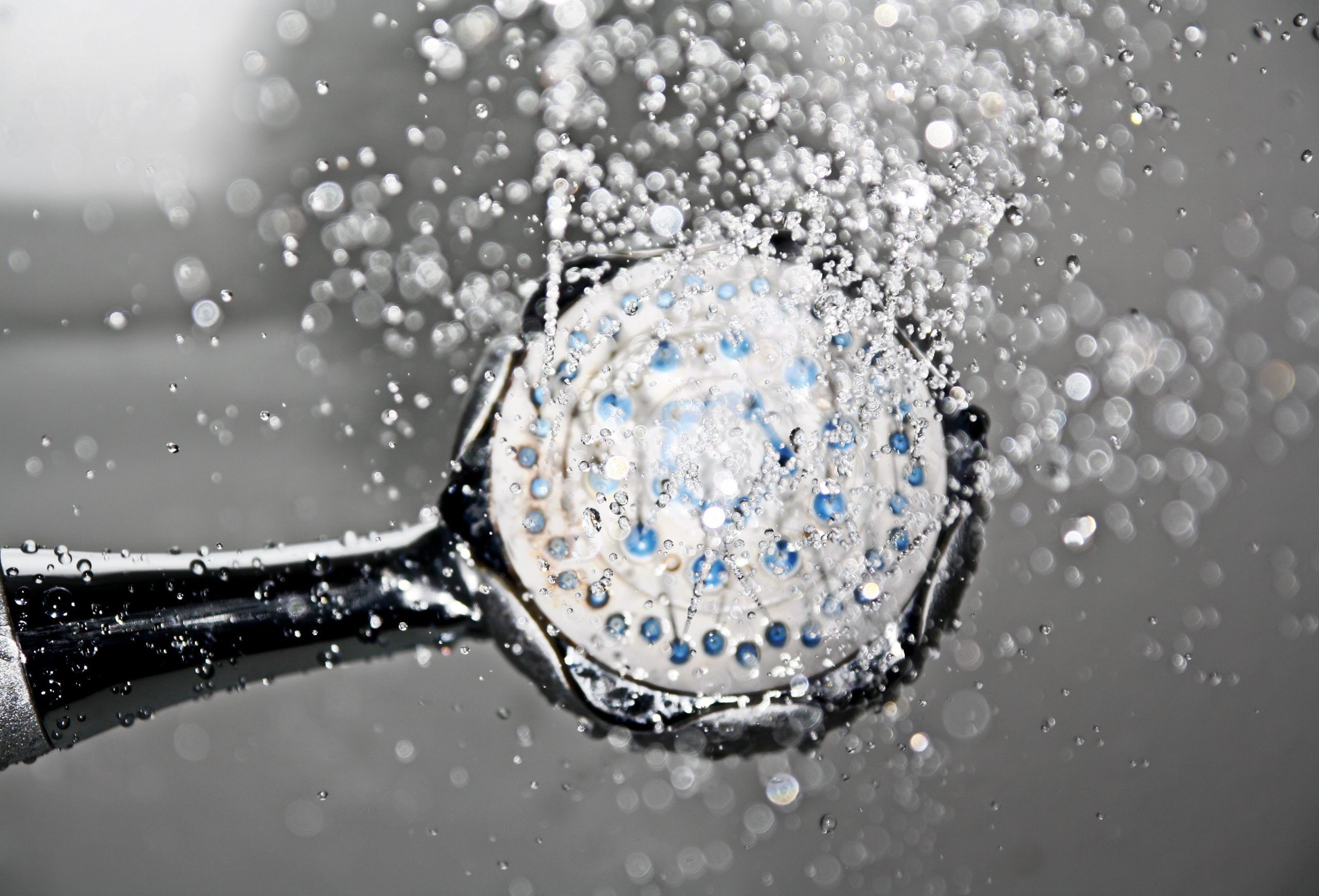 Running shower head