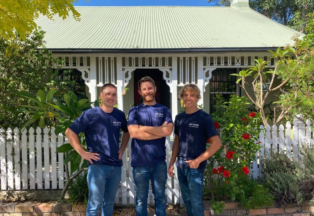 Team photo of inner west plumbing service My Home Plumbing in Marrickville.