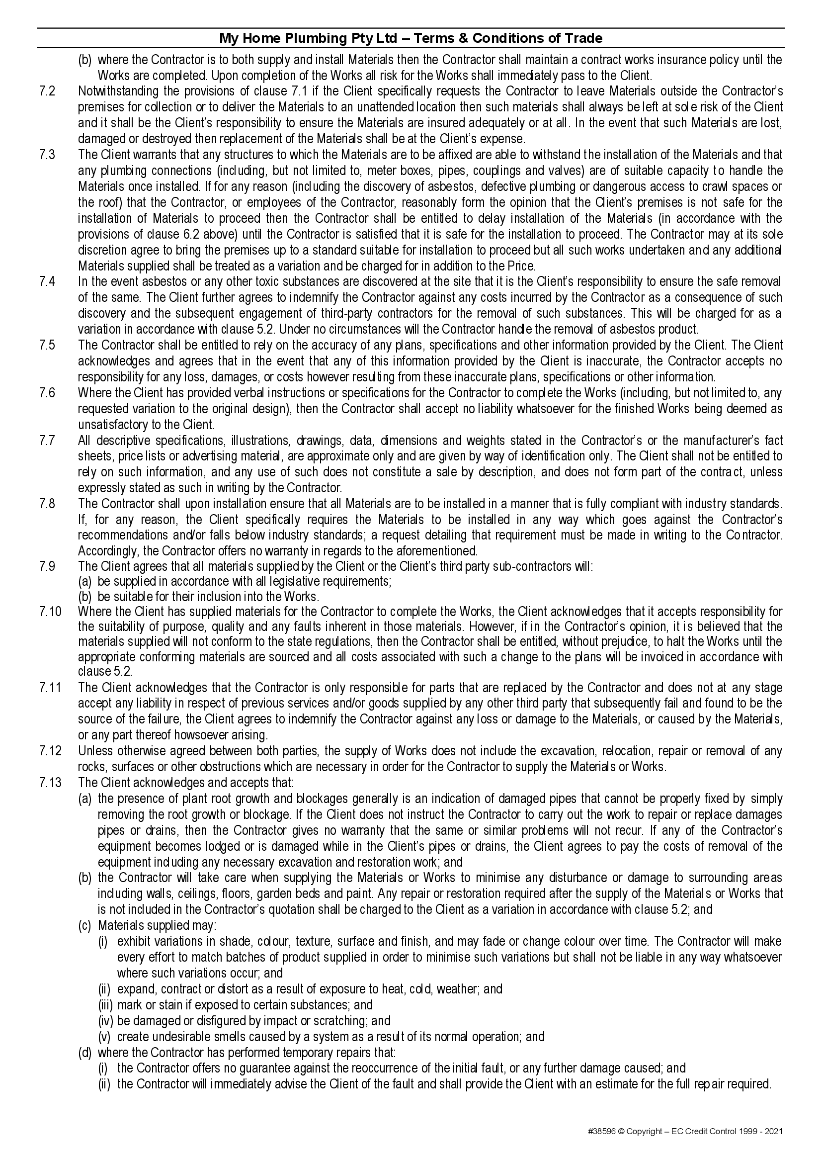MHP terms and conditions page 3